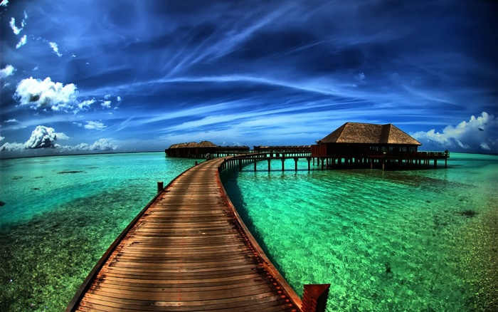 maldives wooden way to hotel 1280x800
